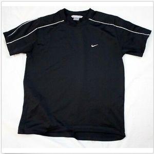 Nike Short Sleeve Golf Polo Black Shirt Size XL